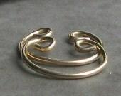 Top of the Ear Cuff Hoop Earrings - non-pierced - gold unpierced cartilage pierceless