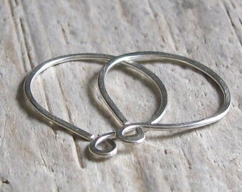 Sterling Silver Hoop Earrings Endless Sleeper Simple Everyday Wear