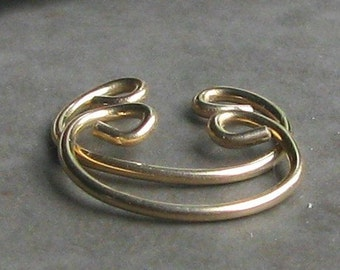 Top of the Ear Cuff Hoop Earrings - non-pierced - gold unpierced cartilage pierceless