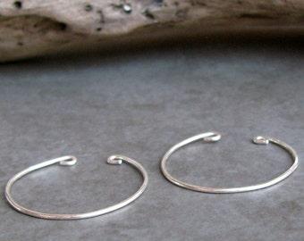 Clip on alternative hoop earrings sterling silver non-pierced hoops
