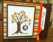 Fall Tree hand stamped card