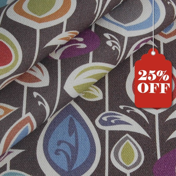 CLEARANCE organic canvas fabric - fat quarter - BLOOM