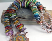 RESERVED:  Elegant Multi Color Lampwork Glass Bead Necklace