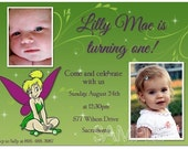 Girls Tinkerbell Birthday Invitation