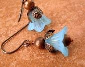 Light Blue Petunias earrings