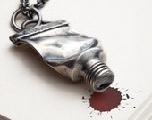 Famous - Silver paint tube necklace - pendant - Red Sofa jewelry
