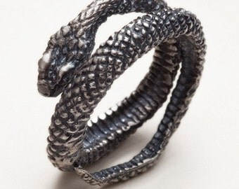 Silver snake ring - Snake Charmer - RedSofa jewelry