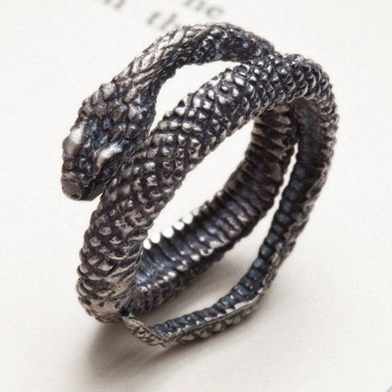 silver snake ring snake charmer redsofa jewelry