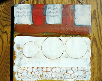 SALE SALE 60% off -Three Times- original encaustic painting