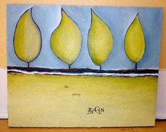 SALE SALE 50% off original price- The Giving Trees- original acrylic painting