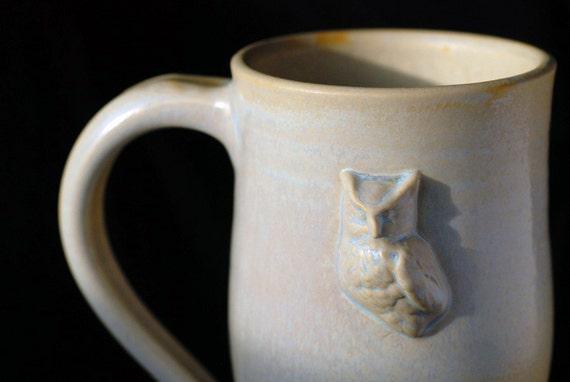 White Porcelain Owl Mug