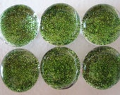 Glitter Green Marble Magnets