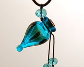 Chinese Vial Pendant  Aroma Bottle Necklace Murano Glass  Gift