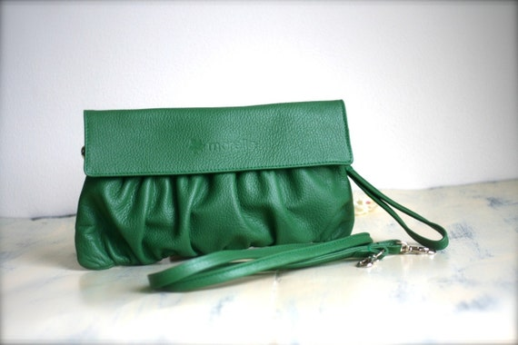 Morelle Clutch in Forest Green