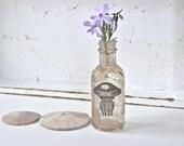 Beach Cottage Glass Bud Vase, Jellyfish, Mini Vase, Beach House, Apothecary Bottle, Recycled Glass Bottle