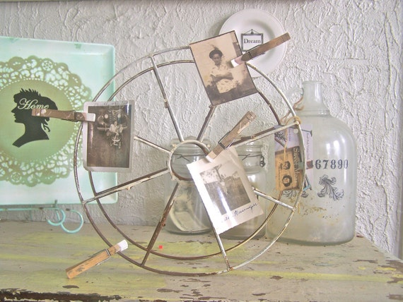 shabby chic photo frame industrial decor cottage metal