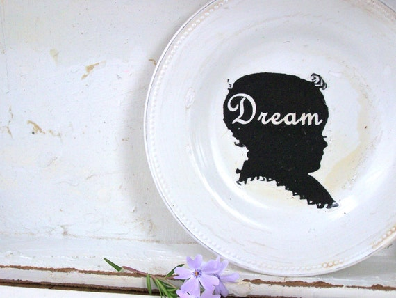 Shabby Chic Wall Decor, Nursery, Silhouette, Dream Sign, Modern Farmhouse, Paris Apartment