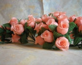Silk Mini Roses with Wire Stem