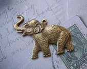 2 Ox Brass Elephant Charms