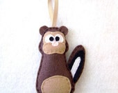 Felt Christmas Ornament - Patrick the Brown Chipmunk