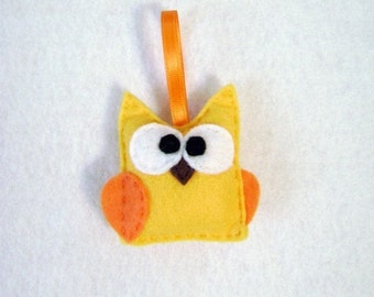 Felt Ornament - Pendleton the Gold Baby Owl