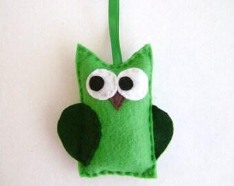 Felt Holiday Ornament - Timothy the Green Owl