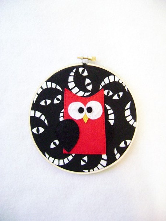 Fabric Wall Art - Beatrix the Red Owl