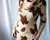handmade indie cowl tunic dress - MAKE LIKE A TREE... - smarmyclothes