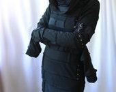 REAPER cowl hood cyberpunk zombie dress - handmade custom size - smarmyclothes halloween steampunk