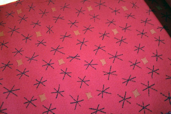 vintage red atomic upholstery fabric