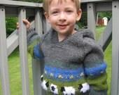 Sheep in the Meadow Hoodie Sweater