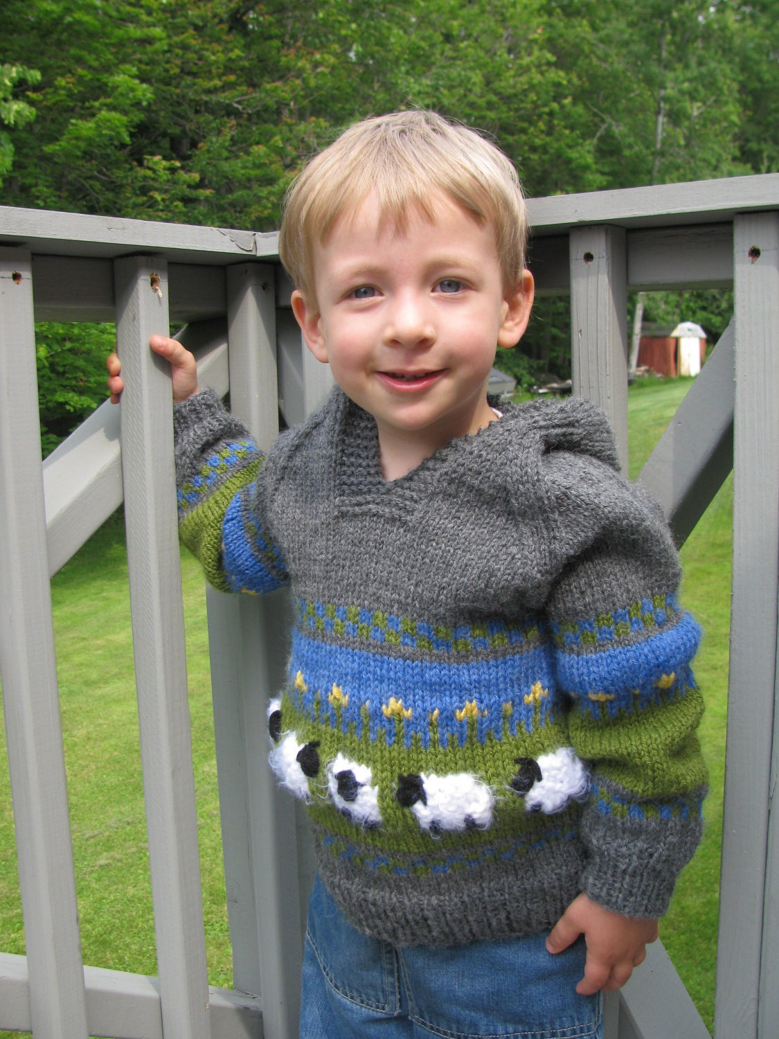 Sheep Knitting A Sweater : Sheep in the meadow hoodie sweater