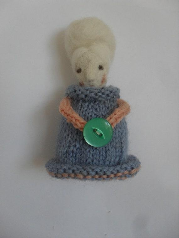 Meg - Needle felted doll - Folk art