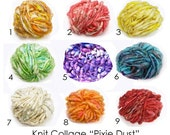 """Yarn by the yard Knit Collage Pixie Dust - for Newborn Photo Props in """"Welcoming Home Baby the Handcrafted Way"""" 7yds by TrickyKnits"""