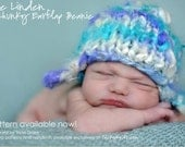 Knitting Pattern for Newborn Hat Photo Prop or Baby Gift - the Linden Handspun Chunky Earflap Beanie original design by TrickyKnits