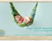 "Baby Hammock Photo Prop Handspun Yarn for Newborn Boy or Girl in ""sea sprite"" - many colorways available"