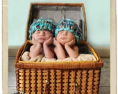 Baby Girl Hat Boho Chunky Beanie Handspun Photo Prop for Newborn Photography Shower Gift -