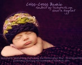 Newborn Photo Prop Hat Criss-Cross Beanie Baby Boy or Girl Photography Prop Shower Gift