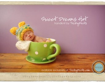 KNITTING KIT - Knit your own Chunky Hat Newborn Photo Prop for Baby Girl or Boy - you choose the colors