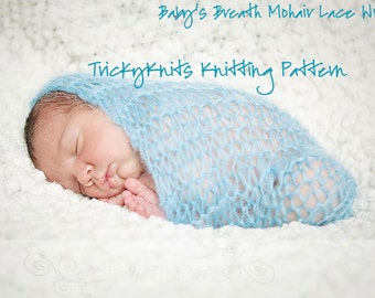 Knitting Pattern for Baby Photo Prop Wrap Swaddler Wrap Cocoon by TrickyKnits - Sell What You  Make - Makes Great Baby Blanket Gift Too