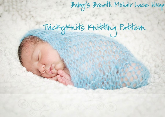 Knitting Patterns For Photography Props : Items similar to knitting pattern for baby photo prop wrap