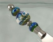 Handmade Lampwork Glass Appetizer Knife - Complimentary shipping