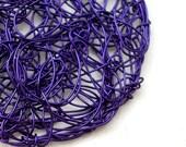 Purple Knitted Circle Dangle Earrings - Tangle me Purple, mon petit chou
