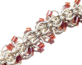 Argentium Silver Chainmaille Bracelet - Roosa Weave