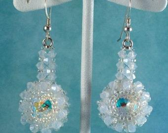 Crystal Snowy Rivoli Earrings