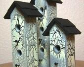 Bird house - Mini birdhouse trio 193