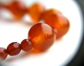 Bubble Necklace . Red Stone Necklace . Red Agate Necklace . Simple Bead Necklace - Goji Collection . Galaxy Series