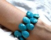 Chunky Turquoise Bracelet . Tiffany Blue Bracelet . Turquoise Bracelet . December Birthday . Tiffany Blue Wedding - Mermaid Collection