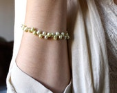 Pale Yellow Pearl Bracelet . Light Yellow Bracelet . June Birthstone Jewelry . Freshwater Pearl Bracelet . Yellow Beaded Bracelet - Annette
