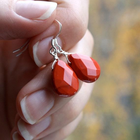 RESERVED - Custom Order - Peach Crystal Teardrop Earrings wire wrapped in 14k Gold Fill